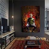 sanzangtang Payaso Wall Art Movie Clown Comic Poster Prints en Canv-Pintura sin marco60X90cm