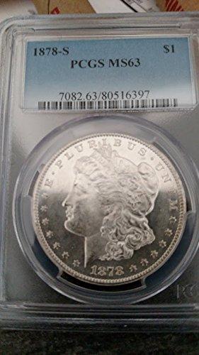 1878 S Morgan Dollar $1 MS-63 PCGS