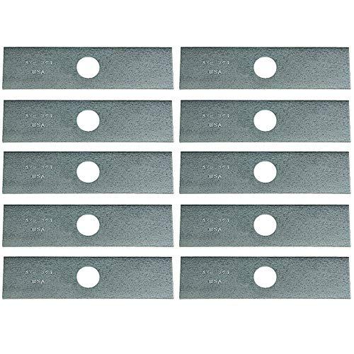 Lot DE 10 20,3 x 5,1 cm Lames pour à Bordure Rouge Max : 6367–15110, McCulloch : 301272, Stihl : 4133 713 4102