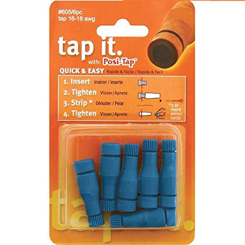 Lockitt Posi-Tap 6pc pack #605/6 16-18 awg Blue