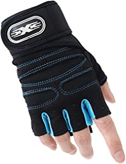 Ancaiqi Cycling Gloves, Mountain Road Half Finger Bike Gloves Anti Slip Shock-Absorbing for Gym Riding Running Exercising ...