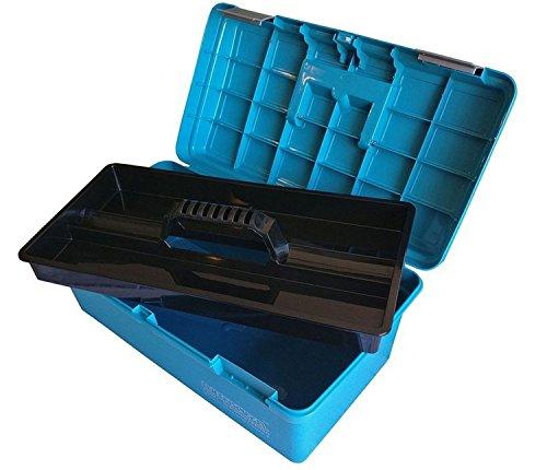Eulenspiegel Profi Schmink-Koffer aus Kunststoff, klein, blau
