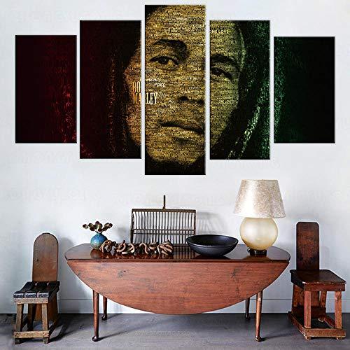 5 piezas de póster lienzo arte casa de verano molino de viento póster cuadro de pared para decoración de sala de estar pintura en lienzo 150cm x 80cm sin marco