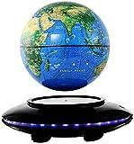 Globo del Mundo, Globo Flotante de levitación magnética, Mapa del Mundo Giratorio de 8 Pulgadas, Globo antigravedad para Regalo Educativo, decoración de Escritorio para el Aula de la Oficina en casa,