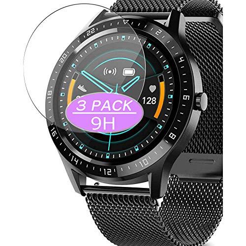 VacFun 3 Piezas Vidrio Templado Protector de Pantalla, compatible con AIMIUVEI S28 smartwatch Smart Watch, 9H Cristal Screen Protector Protectora Reloj Inteligente