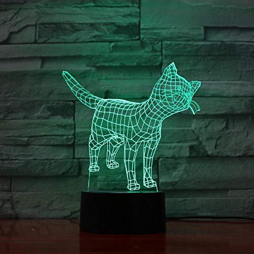 3D LED Night LightCat Colorful Touch Sensor Bedside Table Lamp for Infant Bedroom-16 colors remote