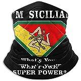 ENZOOIHUI Sicilian Pride Hombres Mujeres Winter Print Neck Warmer Bandana Mascarilla para Motociclet...