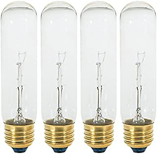 40T10/120V -Tubular - 120V - Medium (E26) Base - Incandescent Light Bulb (Clear, 40 WATT-4 Pack)