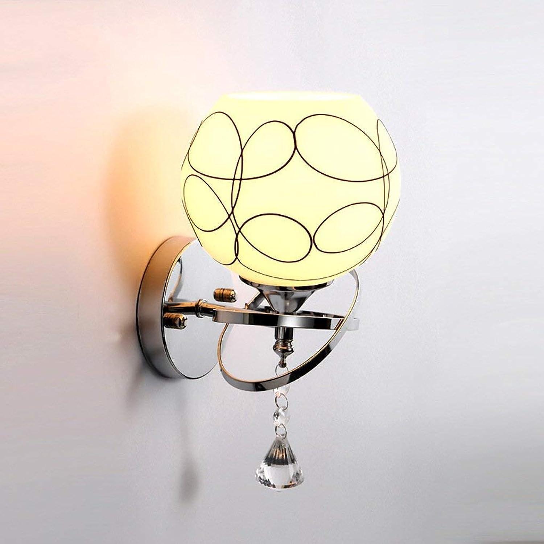 Zhang Yan ZYY Moderne Einfachheit Kristall Wandleuchten Wohnzimmer Restaurant Schlafzimmer Nachttischlampe Treppen Flur Leuchte (E27 Lampe)