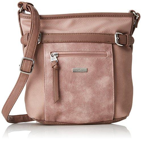 TOM TAILOR Umhängetasche Damen Juna, Rot (Rose), 7.5x24x26 cm,, Damen Handtasche TOM TAILOR Handtaschen, Taschen für Damen, klein