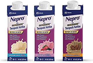 Nepro Liquid Nutrition, Homemade Vanilla, Mixed Berry, & Butter Pecan - 12-8oz Containers