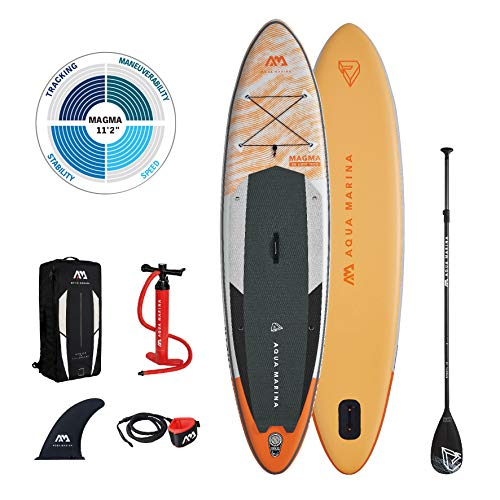 AM AQUA MARINA Stand Up Paddle Board aufblasbar im Set Magma 2021...