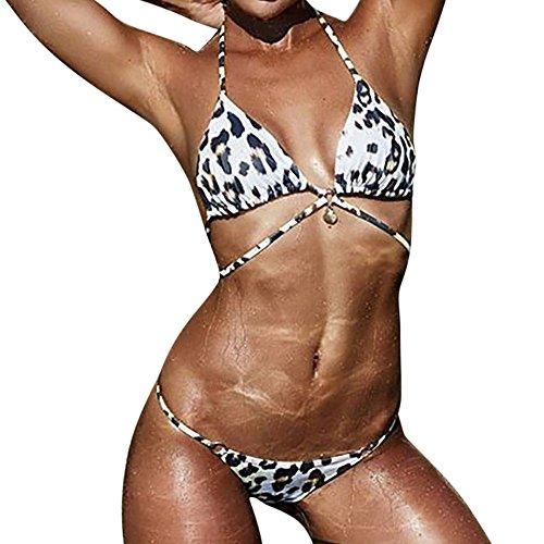 FRAUIT Dames Push Up BH voor dames bikiniset triangelbikini set voor vrouwen fitness bovendeel tops en bottoms lace up bikini set zonder beugel