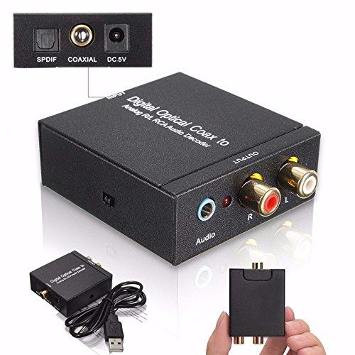 NK-Y2 Digital SPDIF Optical Coax to Analog RCA R/L DTS2.1/5.1 Audio Converter...