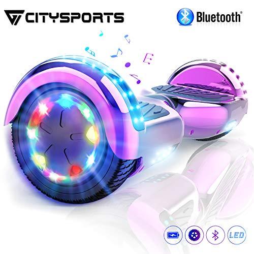 CITYSPORTS Hover Scooter Board -6,5zoll SUV Bluetooth Overboard, Elektro Scooter Self-Balance Board 350W*2 LED Räder, für Kinder und Anfänger
