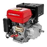 EBERTH 13 CV Moteur à essence avec embrayage à bain d'huile (Démarreur électrique, 22 mm Arbre, Alarme manque d'huile, 4 Temps, 1 Cylindre, Démarrage via câble)