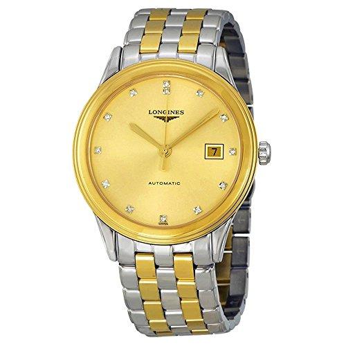 Vlaggenschip Automatische gouden wijzerplaat tweekleurige mannen horloge