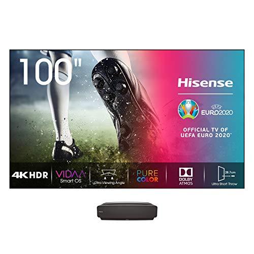 Hisense Smart Laser TV 100L5F con Risoluzione 4K, HDR10, Dolby Atmos, 2700 Lumen di Luminosità - Pannello escluso