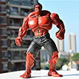 WXFQX Cool Marvel Hulk Superhero Hulk Figura 26 cm Los Vengadores Red Hulk PVC Figure Modelo de cole...
