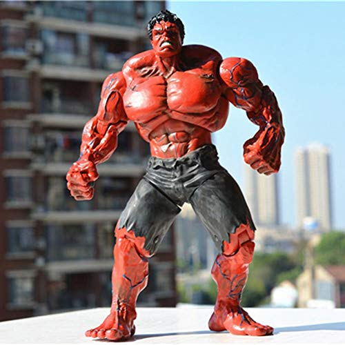 WXFQX Cool Marvel Hulk Superhero Hulk Action Figure 26CM The Avengers Red Hulk PVC Figure Collectible Model Toys Gifts for Children (Color : Red)