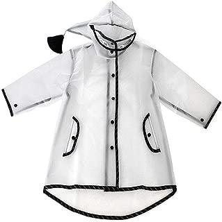 Kids Raincoat Clear Rain Poncho Jacket Rain Coat Rain Wear for Baby Girls Children