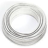 Cavo per altoparlante, 2 x 0,75 mm², 10 m, bianco, CCA
