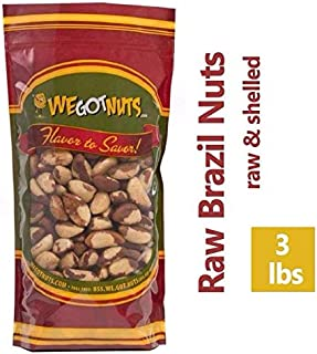 Brazil Nuts - 3 Pounds ,Whole, Shelled, Raw, Natural, No Preservatives Added, Non-GMO, NO PPO, We Got Nuts …