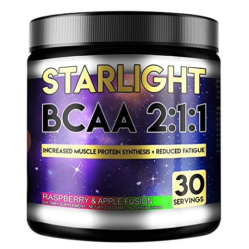 Perihelion Nutrition Starlight BCAA 2:1:1 Amino Acids Supplement Vegan 30 Servings L-LEUCINE, L-ISOLEUCINE, L-VALINE (Raspberry & Apple)