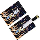Unidades USB Flash Thumb Drives LeBron Los Angeles Basketball Player 23 Forma de tarjeta de crédito King James Lakers Super Star Small Forward Make The Basket U Disk Memory Stick Storage Cleveland Mia