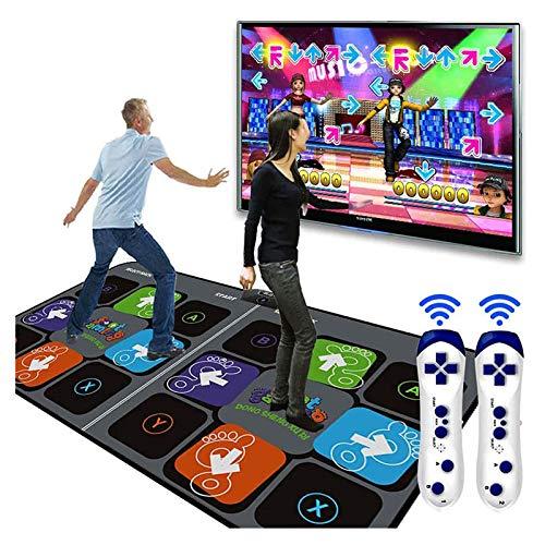 Dancing Yoga Mat,Single Play Kids Adults Non-Slip Sense Dancer Step Pads with 50 dances music,High Sensitivity,Multi-Function Games/&Levels,LED Intelligent Rhythm Sense Game for PC TV