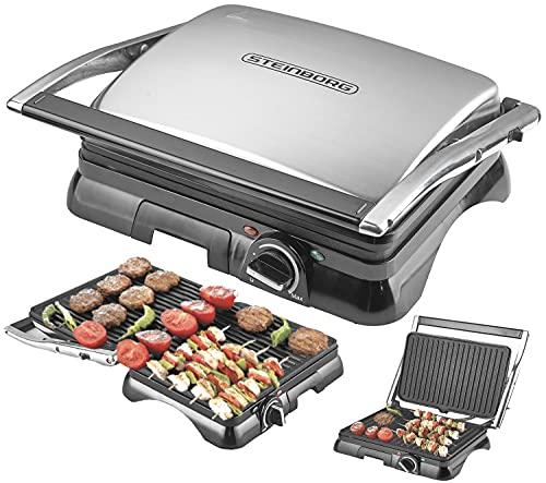 Grill, Maker | mesa grill Panini, Sandwich Tostadora, 2000Watt | Apertura de 180° | Recubrimiento Antiadherente | Termostato