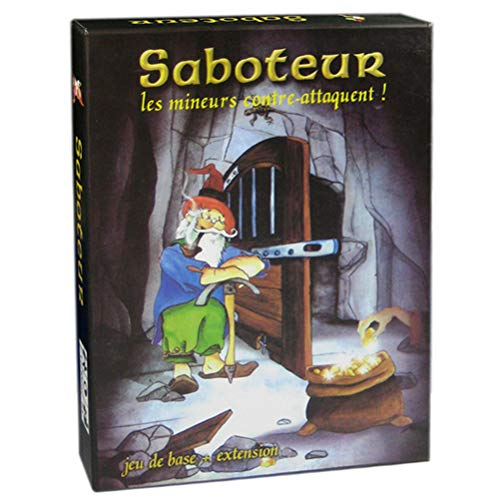 Saboteur Juego de mesa Versión 1 + 2 Dwarf Gold Mine Juego de cartas Divertido Saboteur Duel