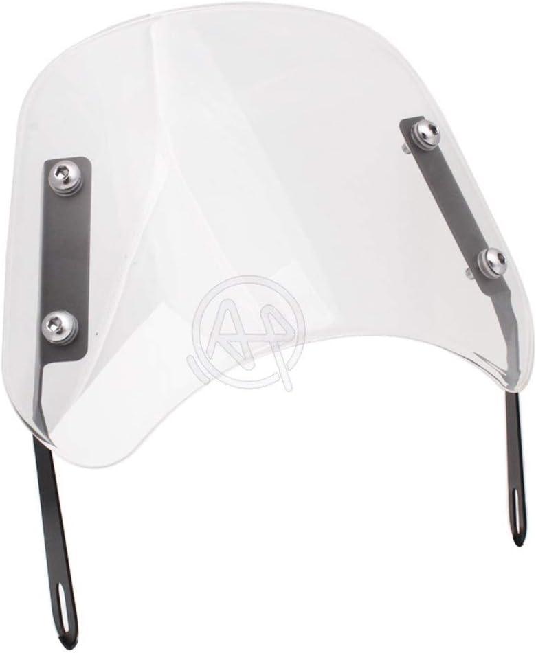 NGHSDO Deflector Moto Parabrisas de Motocicleta Deflector de Viento Parabrisas Universal 24