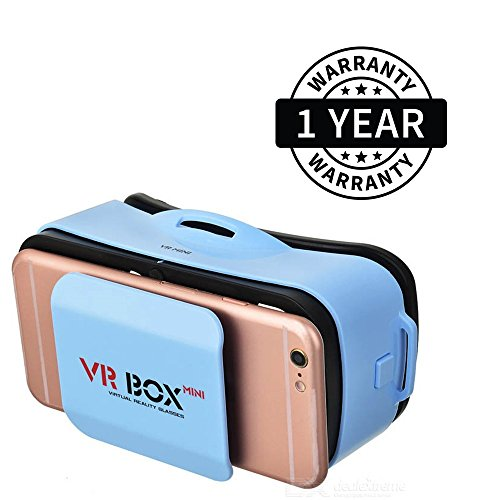 Suroskie VR Box Mini Virtual Reality 3D Glasses for Smartphones (Multicolor)