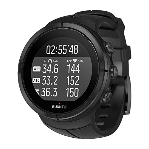 Suunto Spartan Ultra All Black Titanium HR The GPS Watch with Color Touch Screen Heart Rate Monitoring for Athletic and Adventure Multisport, Schwarz Titan, Uni