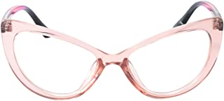 SOOLALA Womens Oversized Fashion Cat Eye Eyeglasses Frame Large Reading Glasses