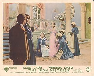 Iron Mistress Original Lobby Card Alan Ladd Watches Virginia Mayo Dress
