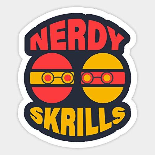 Kite Yellow & Red Nerdy Skrills Printed - Sticker Graphic - Decal Sticker Sticker
