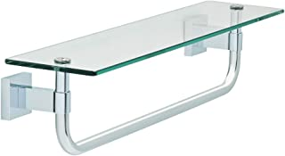 """Franklin Brass MAX10-PC Maxted Glass Shelf with Towel Bar, 18"""", MAX10-PC"""