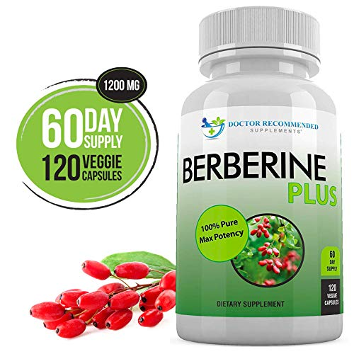 Berberine Plus 1200mg Per Serving - 120 Veggie Capsules Royal Jelly, Supports Glucose Metabolism, Healthy Immune System, Promotes Weight Loss, Improves Cardiovascular Heart & Gastrointestinal Wellness