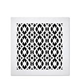 Saba Air Vent Cover Grille - with Screws Acrylic Fiberglass 12' x 12' Duct Opening (14' x 14' Overall) White Finish Register Covers for Walls and Ceilings NOT for Floor USE, Charlotte