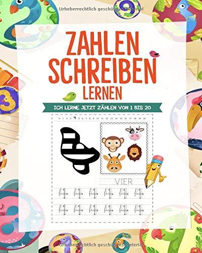 Zahlen schreiben lernen: Vorschulübungen für Kinder ab 4 Jahre - Zahlen schreiben lernen und zählen lernen war noch nie so einfach