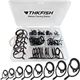 thkfish Fishing Rod Guides Fishing Rod Repair Kit Baitcasting Rod Guides Ceramics Stainless Steel...