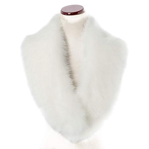 6330dd78f86 Saferin Echarpe Fausse Fourrure de Renard Dames Châle Col en Fourrure  d hiver