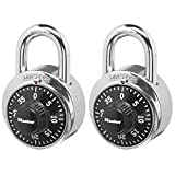 Master Lock 1500T Locker Lock Combination Padlock, 2 Pack, Black