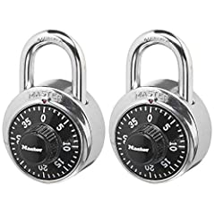Indoor padlock is best used as a school locker lock and gym lock, providing protection and security from theft Preset three-digit combination lock; one combination conveniently opens both padlocks Combo lock is constructed with a metal body, stainles...