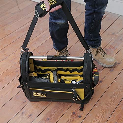Stanley FatMax Werkzeugtrage, 48x33x22cm, 600 Denier Nylon, wasserdichter Kunststoffboden, ergonomischer Gummigriff, Rahmen stahlverstärkt, verstellbarer Schultergurt, 1-93-951 - 10