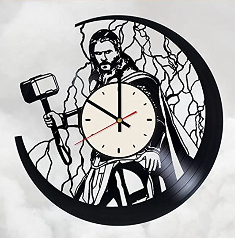Thor Ragnarok Vinyl Wall Clock Superhero Unique Gifts Living Room Home Decor