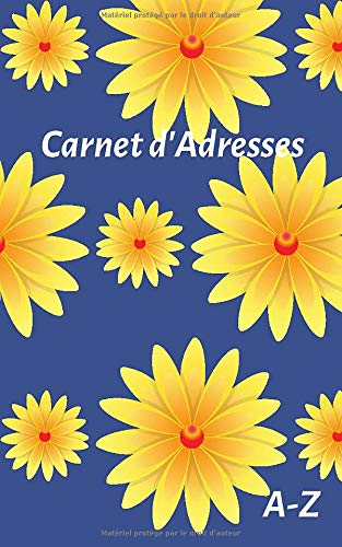 Carnet d'Adresses: Floral, Petit Format, Alphabetique, 110 Pages (French Edition)