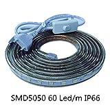 Tiras LED Smd5050 220v 60 Led/m para Interiores y Exteriores Decorar IP66 Impermeable Con Enchufe de Interruptor ONSSI LED 6000k...